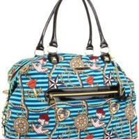 Betsey Johnson BH57130 Weekend Bag,Blue,One Size