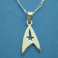 Star Trek Necklace - Sterling Silver