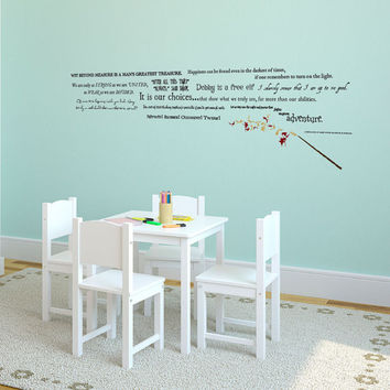 Harry Potter Quote Collection with Wand and Sparks - Wall Decal Custom Vinyl Art Stickers