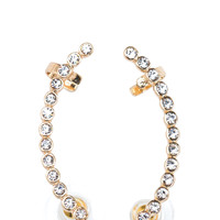Jeweled Line Ear Cuffs