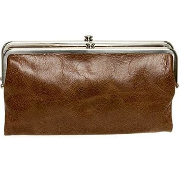 Hobo International Womens Lauren Vintage Wallet Leather Clutch Purse (Cafe)