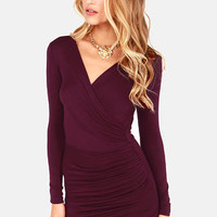 The Best of Times Burgundy Dress