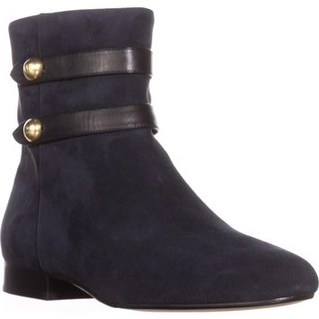 MICHAEL Michael Kors Maisie Flat Ankle Booties, Admiral, 8.5 US / 39 EU
