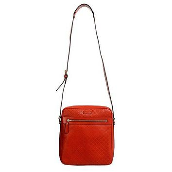 Gucci 100% Leather Orange Women's Cross Body Shoulder Bag