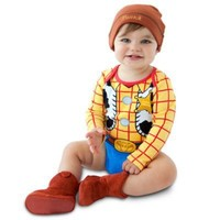 Personalizable Woody Costume Bodysuit and Cap for Baby Boys