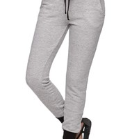 Nollie Solid Gray Jogger Pants - Womens Pants - Gray -