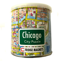 GeoToys Chicago Magnetic Fridge Magnet Puzzle
