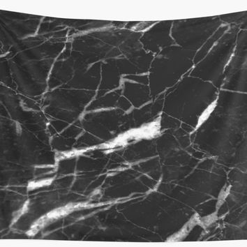 'Black marble' Wall Tapestry by LeNew