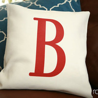 monogrammed pillow cover - customize font style and ink color