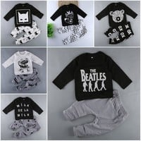 Baby Boy Sets Boy's Girl's Clothing Summer Autumn Cartoon Long Sleeve + Pant 2pcs Baby's Wear Conjoined Clothes Sets M1728