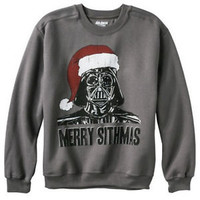 STAR WARS Darth Vader MERRY SITHMAS Christmas GRAPHIC SWEATSHIRT SANTA HAT