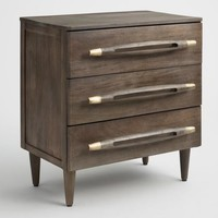 Gray Wood Mila Nightstand