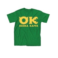 Disney Monsters University OK Oozma Kappa Member Adult Green T-shirt (Adult X-Large)