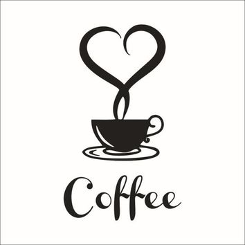 My House 20*12.5cm Wall paper Removable DIY Kitchen Decor Coffee Cup Decals Vinyl Mug Wall Sticker jun 14