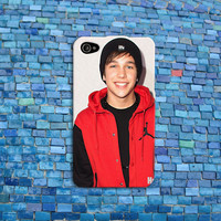Smiling Austin Mahone iPhone Case Cool Smile Funny Cell Phone Cover iPhone 4 iPhone 5 iPhone 4s iPhone 5s Cover iPhone 5c Case