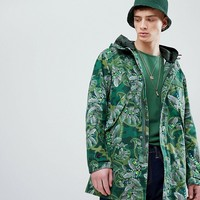 Pretty Green X Katie Eary Toria AOP Cassidy Parka Jacket in Green at asos.com