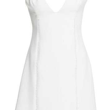 Crystal Zipper Detail Mini Dress | Moda Operandi