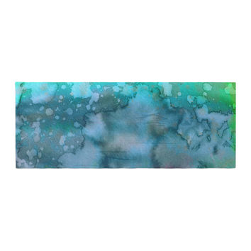 "Ebi Emporium ""California Surf 1"" Green Teal Bed Runner"