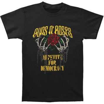 Guns N Roses Men's  Hands & Chains 2012 Tour T-shirt Black Rockabilia