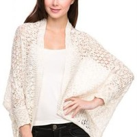 Beachside Bonfire Open Knit Cardigan in Ivory | Sincerely Sweet Boutique