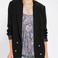 Sparkle & Fade Double-Breasted Crepe Blazer