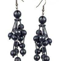 Black Berry Bush Earrings