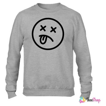 death smiley_ Crewneck sweatshirtt
