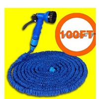 Garden Hose Stretched 30m Hose Watering 100ft Blue Magic Expandable Garden Supplies Water Hose with Spray Gun 1pcs.