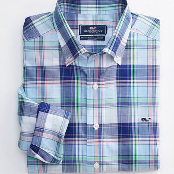 Vineyard Vines - Easton Bay Plaid Whale Shirt