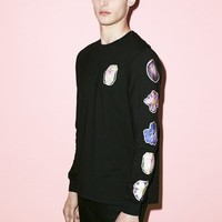 Thierry Boutemy for Opening Ceremony Collage Patch Long-Sleeve Crewneck - MEN - SALE - Thierry Boutemy for Opening Ceremony