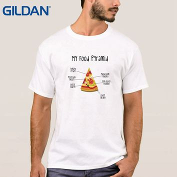 Pizza Food Pyramid Tomato Pepperoni Cheese Crust Mushroom Pepper Tee Shirt