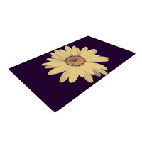 "Robin Dickinson ""Half Crazy"" Black Yellow Woven Area Rug"