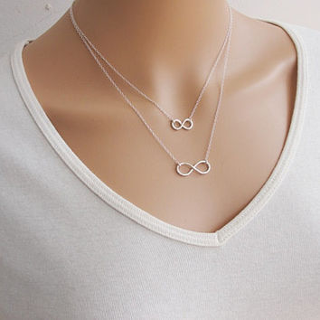 Lucky number eight double necklace