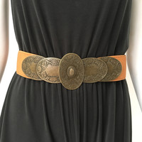 Riding Free Belt in Camel