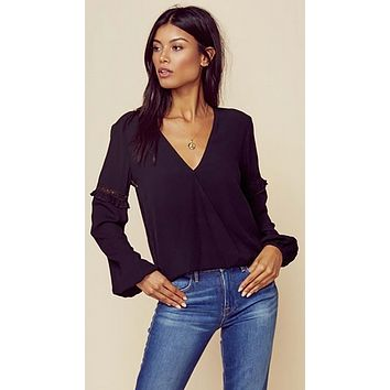 Blue Life Holly Top Black