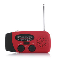 Emergency Radio Receiver Solar Hand Crank with LED Flashlight and USB charger