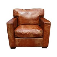 Dexter Vintage Tan Leather Armchair