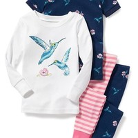 Bird-Graphic 4-Piece Sleep Set for Toddler & Baby | Old Navy