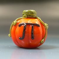 Handmade Lampwork PUMPKIN PI  Thanksgiving Halloween Pumpkin Pie Glass Bead SRA Gelly