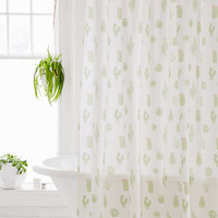 Cactus Icon Shower Curtain | Urban Outfitters