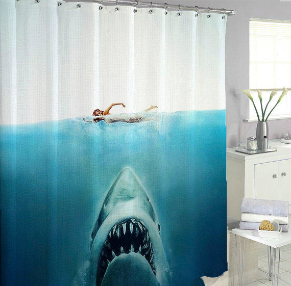 Shark Jaws Shower Curtains From Berniececurtain On Etsy