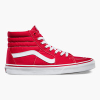 Vans Sk8-Hi Shoes Red  In Sizes
