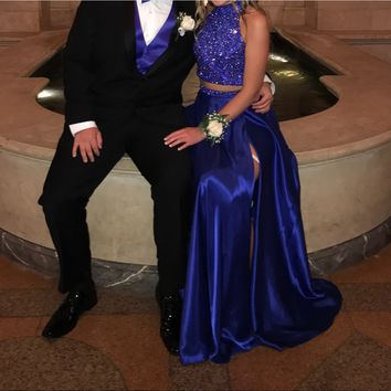SHERRI HILL TWO PIECE PROM DRESS (ROYAL)
