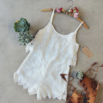 Palm Lace Romper