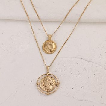 Vintage Double Layers Coin Necklaces
