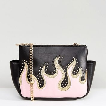 Skinnydip Pink Flame Cross Body Bag at asos.com