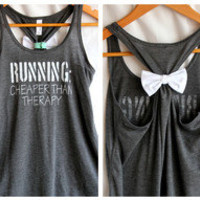 Bow Tank Top RUNNING Cheaper than Therapy - MEDIUM