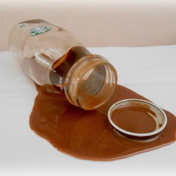 Fake Spilled Bottle of Mocha Frappuccino Coffee Gag Prank Fun April Fools Day