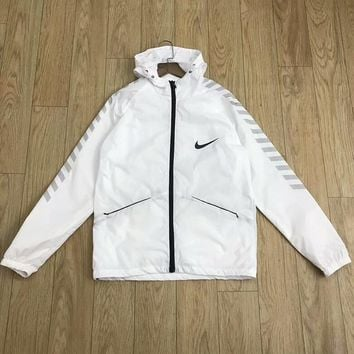 NIKE 2018 counter new running sports casual breathable anti-mite skin clothing F-CY-MN white