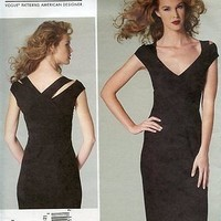 Vogue Designer Pattern 1280 Donna Karan Knit Pullover Dress